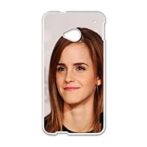 HTC One M7 Cell Phone Case White Emma Watson Smile Cannes Film Girl Ertkm