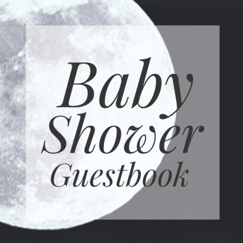 Baby Shower Guestbook: Full Moon Night Goth Halloween