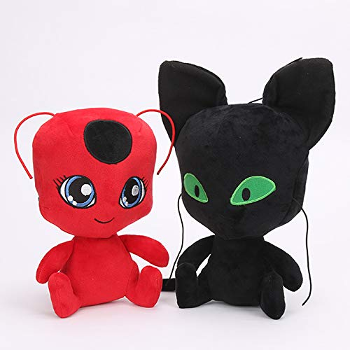 PAPCOOL Set 2 Miraculous Ladybug Plush Toys 9