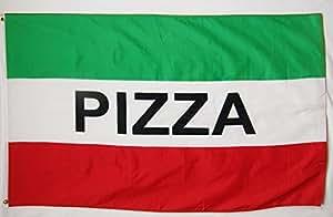 Con revestimiento de acero completa con bandera poste con Hardware y 3'x 5' bandera de pizza (GWR) Business