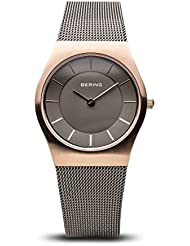BERING Time 11930-369 Womens Classic Collection Watch with Mesh Band and scratch resistant sapphire crystal. Designed...