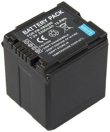 Akku Für Panasonic Hdc Sd707 Vw Vbg260e Mit Info Chip Elektronik