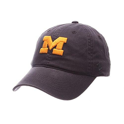 Elite Fan Shop Michigan Wolverines Hat Icon Navy - Elite Embroidered Hat