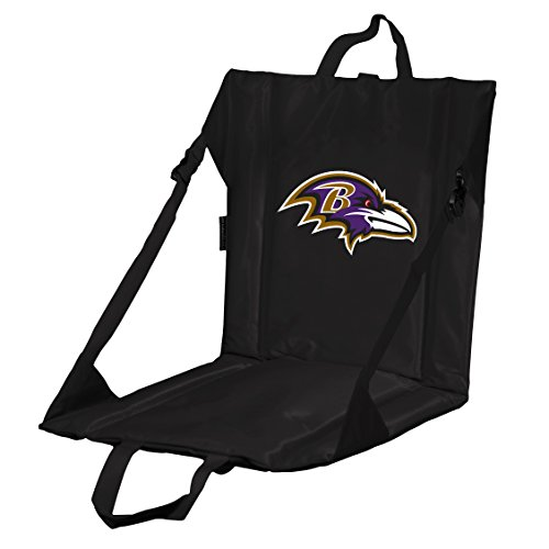 Logo Brands NFL Baltimore Ravens Stadium Seat, One Size, Purple