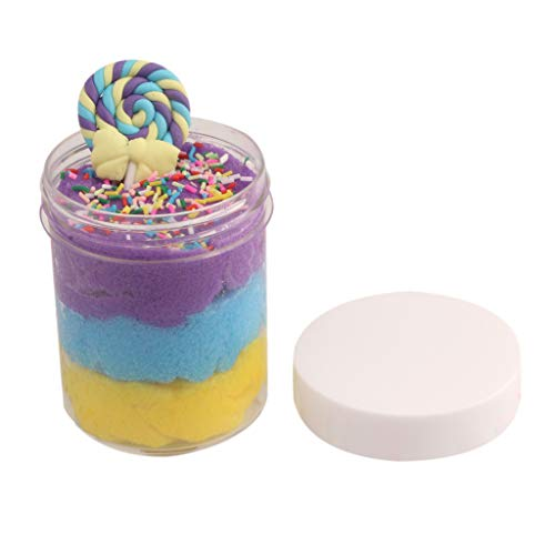 Ecurson Children's Puzzle Decompression Toy,Jumbo Blue Birthday Candy Cake Fluffy Cloud Slime Scented Therapeutic Putty