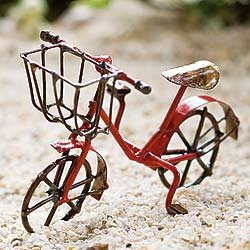 Fairy Garden Bicycle Red (Garden Sculpture Bicycle)
