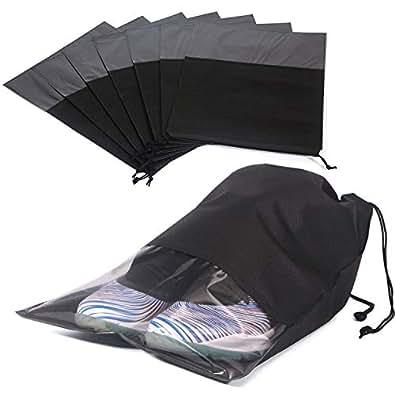 Amazon.com: 6 bolsas de zapatos para viajes, impermeables ...