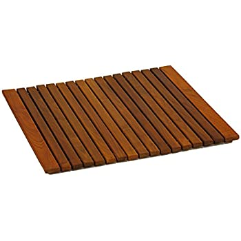 this item bare decor lykos string spa shower mat in solid teak wood oiled finish large