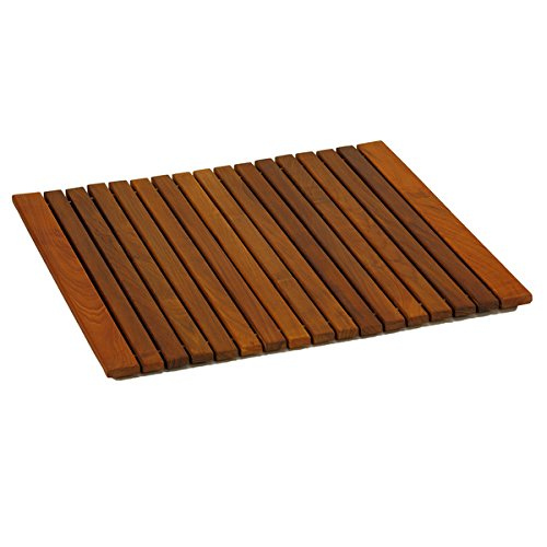 Bare Decor Lykos String Spa Shower Mat in Solid Teak Wood...