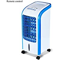 GX&XD Single-cold Compact portable Air conditioner fan,4 caster wheels Evaporative coolers With dehumidifier and fan Air cooler For office dorm nightstand Small fan-C