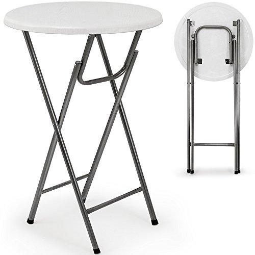 Stehtisch Tisch Gartentisch klappbar Klapptisch Bistrotisch Bartisch weiß Holzdekor MDF