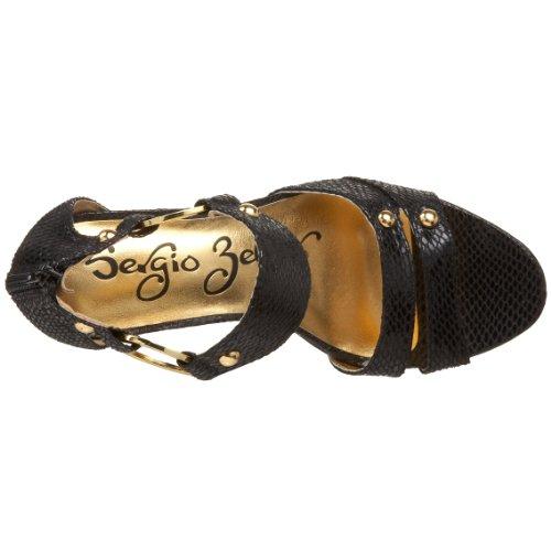 Daisy Sandal Sergio Black Women's Zelcer Snake PtqfwE74q