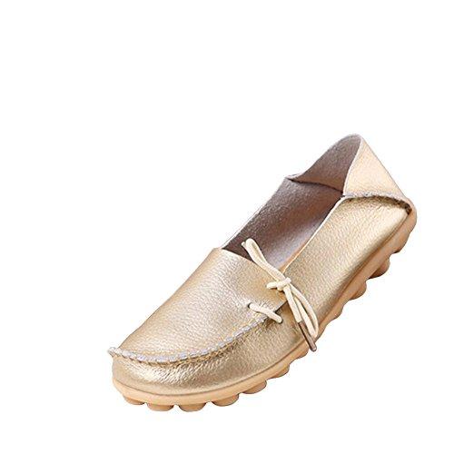 Plataforma Cuña Multicolors Mocasines Negro para Verano de Zapatos Loafers Mujers Primavera Cuero Oro Casual SddxqpwH