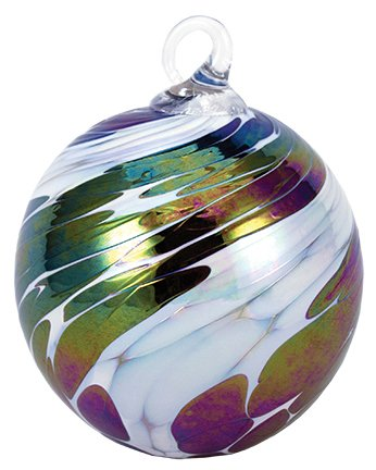 Glass Eye Studio Classic Black Ice Ornament