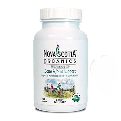 Новая Шотландия Organics, кости и Совместная поддержка Дополнение, USDA сертифицированных органических, 120 легко проглотить капсул.