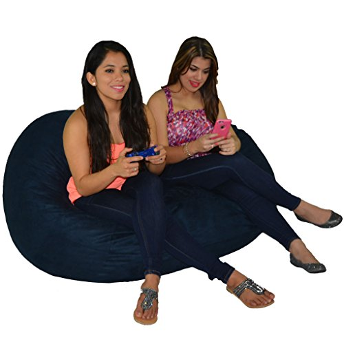 Protective Chair Covers (Bean Bag Chair 5' With 29 Cubic Feet of Premium Foam inside a Protective Liner Plus Removable Machine Wash Microfiber Cover by Cozy Sack)