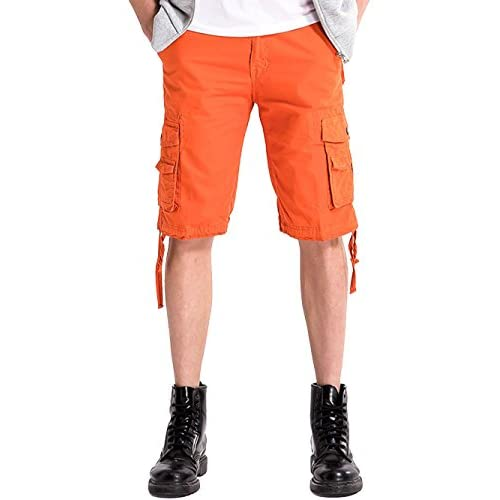 good INFLATION Men's Cargo Shorts Casual Shorts Drawstring Waist ...
