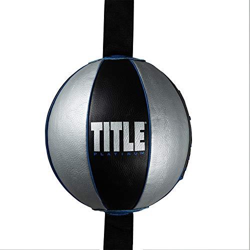 """Title Platinum Perilous Double End Bag, Black/Silver/Blue, 5"""" x 7"""""""