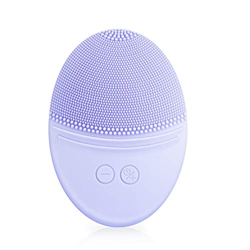 EZBASICS Facial Cleansing Brush made with Ultra Hygienic Soft Silicone, Waterproof Sonic Vibrating Face Brush for Deep…