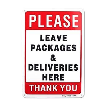 Amazon.com: Leve las entregas y los paquetes aquí cartel de ...
