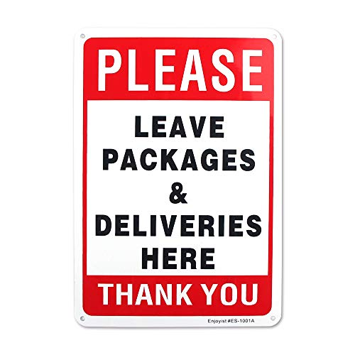- Enjoyist Please Leave Deliveries and Packages Here Sign 12