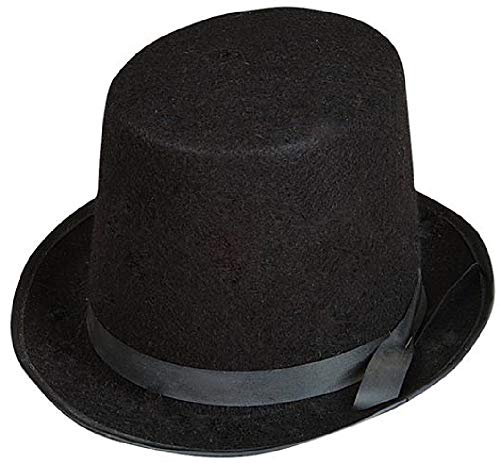 Rhode Island Novelty Deluxe Black Costume Top Hat -