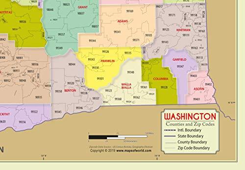 Amazon.com : Washington County with Zip Code Map (36\