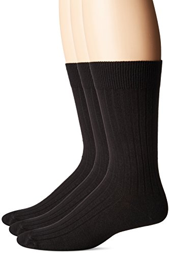 No Nonsense Men's Cotton Rib Dress Socks (3 Pack) Made in...