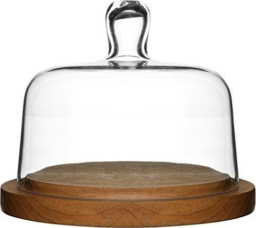 Sagaform 5026044 Oak Cheese Dome with Hand-Blown Glass (Sagaform Cheese)