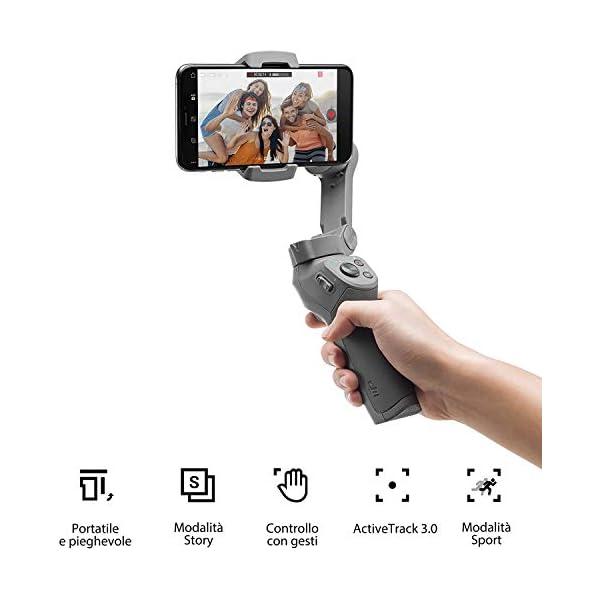 DJI Osmo Mobile 3 Prime Combo - Kit Stabilizzatore Gimbal a 3 Assi con Care Refresh, Compatibile con iPhone e Android Smartphone, Design Portatile, Scatto Stabile, Controllo Intelligente con Treppiede 2 spesavip