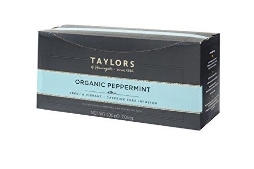 Taylors of Harrogate Organic Peppermint Herbal Tea, 100 Teabags by Taylors of Harrogate