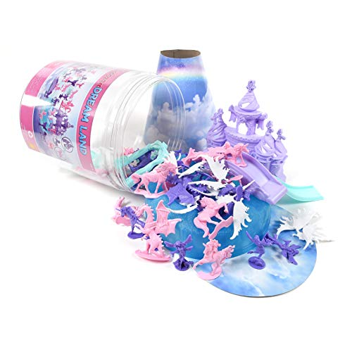 Sunny Days Entertainment Maxx Action Sparkle Dreamland Toy Unicorn Figures with Fairies, Dragons, Castles and Storage Container (Dragon In Dreams 1 6 Action Figures)