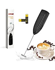 yudaokeji Milk Frother , Coffee Frother With Two Batteries, Handheld Operated Electric Foam Maker for Thick Frothed Milk In Seconds , Powerful Milk Steamer for Bulletproof Coffee ,Hot Chocolate, Matcha ,Tea ,Eggs Mix and More