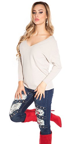 Beige Angies Fashion Glamour Maglione Donna wBBPXqO