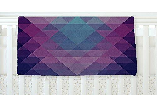 KESS InHouse Nika Martinez Hipster Girl Blue Lavender Fleece Baby Blanket 40 x 30 [並行輸入品]   B0785WRKKM