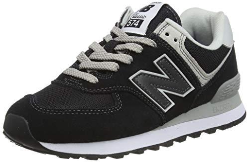 New Balance Women's Iconic 574 Core Sneaker, Black, 8 B US