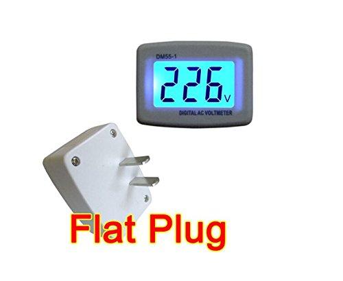 FDorla Flat Plug Digital LCD Voltmeter Gauge Household for Family 80-300v Ac 110v220v