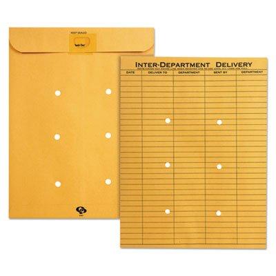 Brown Kraft Resealable Redi Tac Interoffice Envelope, 10 x 13, 100/BX