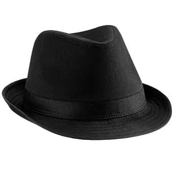 Beechfield - Sombrero Fedora (Unisex) Negro Negro Talla:S/M