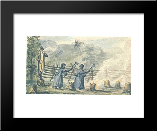 (At the plantation 20x24 Framed Art Print by Pavel Svinyin)