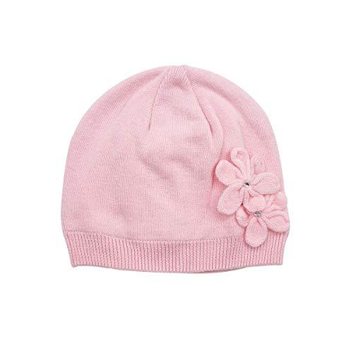 LLmoway Kids Beanie Hat Infant Girl Knit Cap Soft Cotton Warm Toddler Skull Cap, Pink, 2-Ply, - Kids Knit Cap