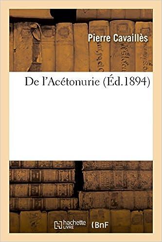 Livre gratuits De l'Acétonurie pdf ebook