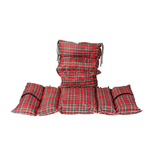 Comfort Pillow Cushion with 6 Ties Color: Plaid ()