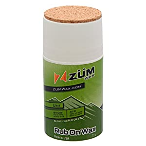 ZUMWax RUB ON WAX Ski/Snowboard All Temperature Universal 70 gram INCREDIBLY FAST in ALL Temperatures!!!
