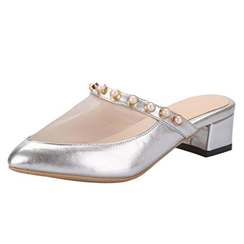 Shoes Silver Sandals Coolcept Slip Women On qwIXn6AT