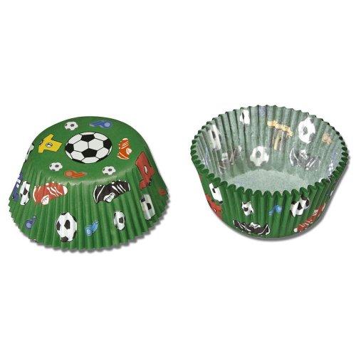 Städter Papierbackform für Muffins, Fußball, maxi, Boden Ø 5 cm, Höhe 3,2 cm 50 Stück