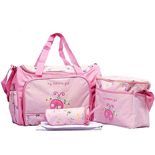 - Hi 9 Shop Baby High Capcity Cartoon Diaper Bags for Pretty Mummy BONUS Changing pad bottle bag and baby bag HY-T005 (Pink Ladybug Dinosaur)