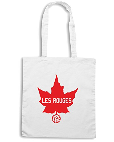 T-Shirtshock - Bolsa para la compra WC0447 Les Rouges Blanco