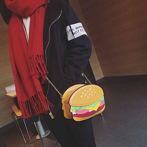 Messenger A Ice Pelle Fries 3d Borsello Hamburger Cream Tracolla Bag Popcorn Hamburge Junecat F0qOzRU