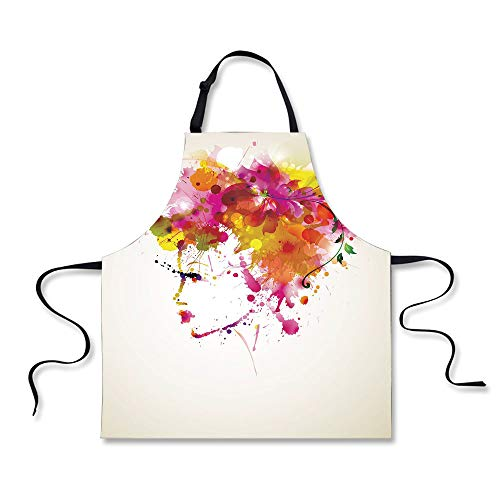 iPrint Custom Apron,Abstract,Watercolor Portrait of a Woman with